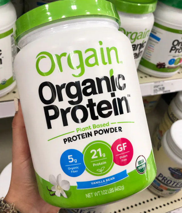 The Orgain Organic Plant Based Protein Powder