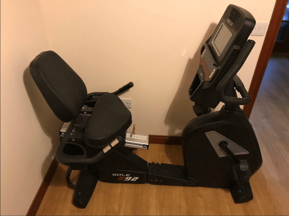 The Sole 92 recumbent bike is Zwift capable