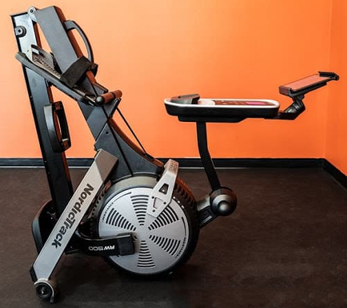 The NordicTrack RW500 rower folded