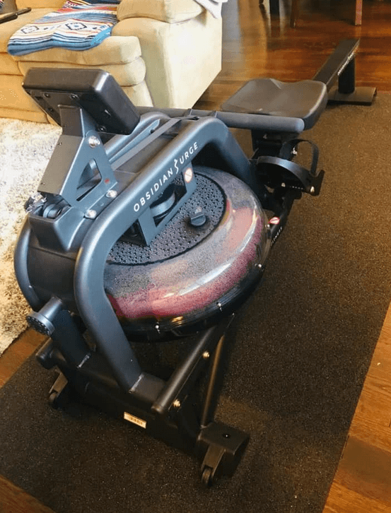 The Obsidian Surge Water Rower from Sunny Health