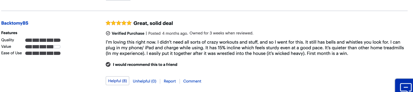another customer review of the t616 treadmill
