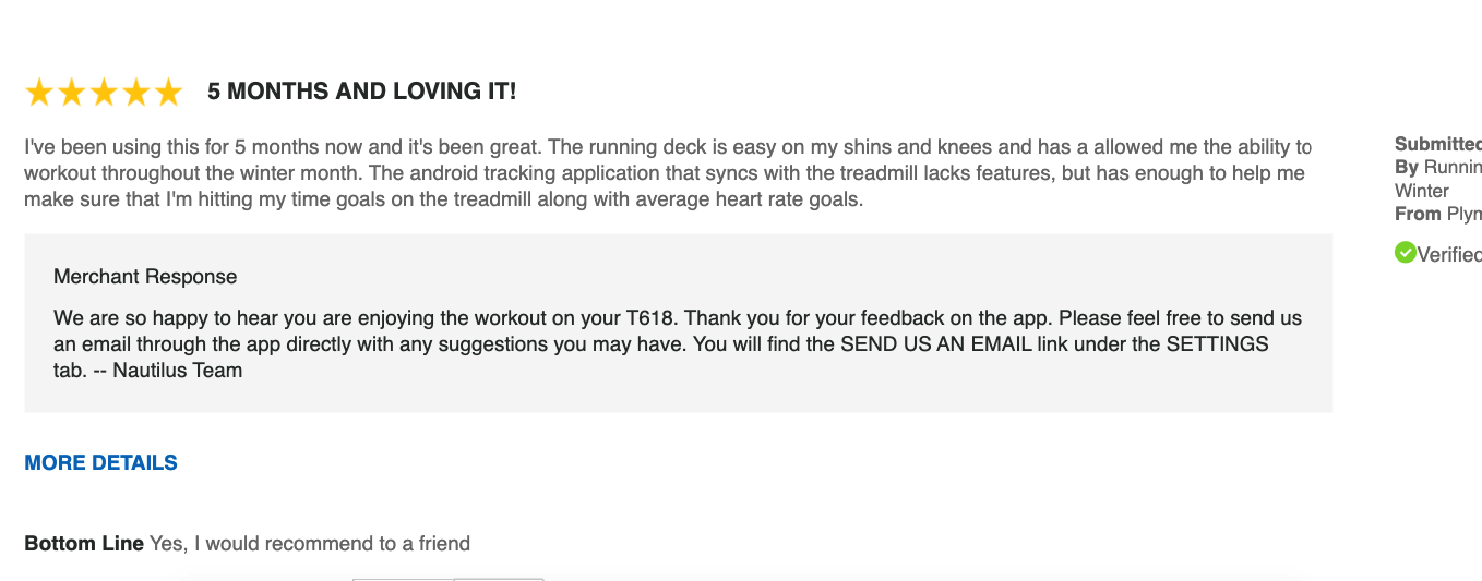 another customer review of the t618 treadmill
