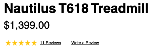 cost of the t618 treadmill