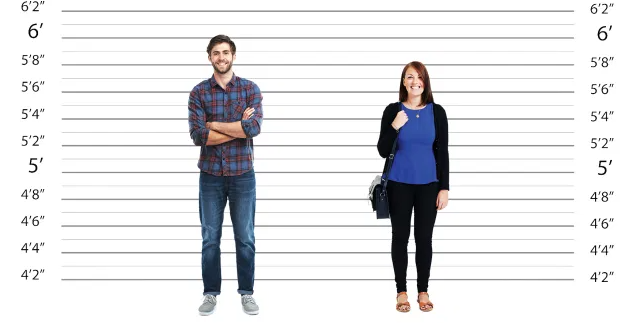 Gender can have an affect on height