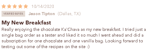 Ka'Chava customer review