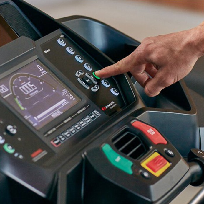The Bowflex BXT116 offers a bright LCD screen that helps you track your progress