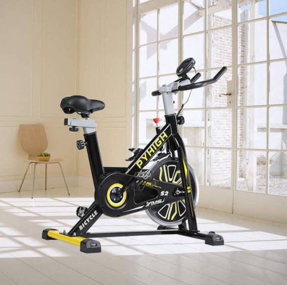 the PYHIGH indoor cycling bike is a great choice for beginners looking for an exercise bike