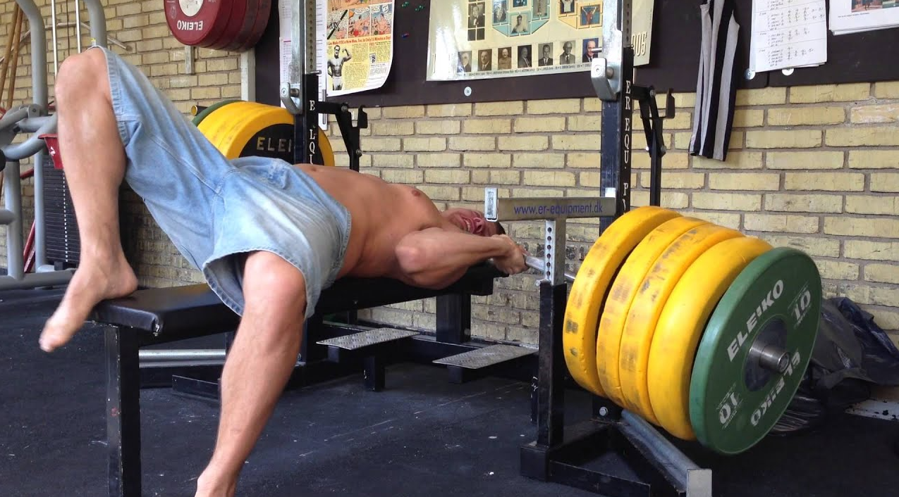 One of the Benefits of the Dumbbell Floor Press is that it is Safer than Bench Pressing