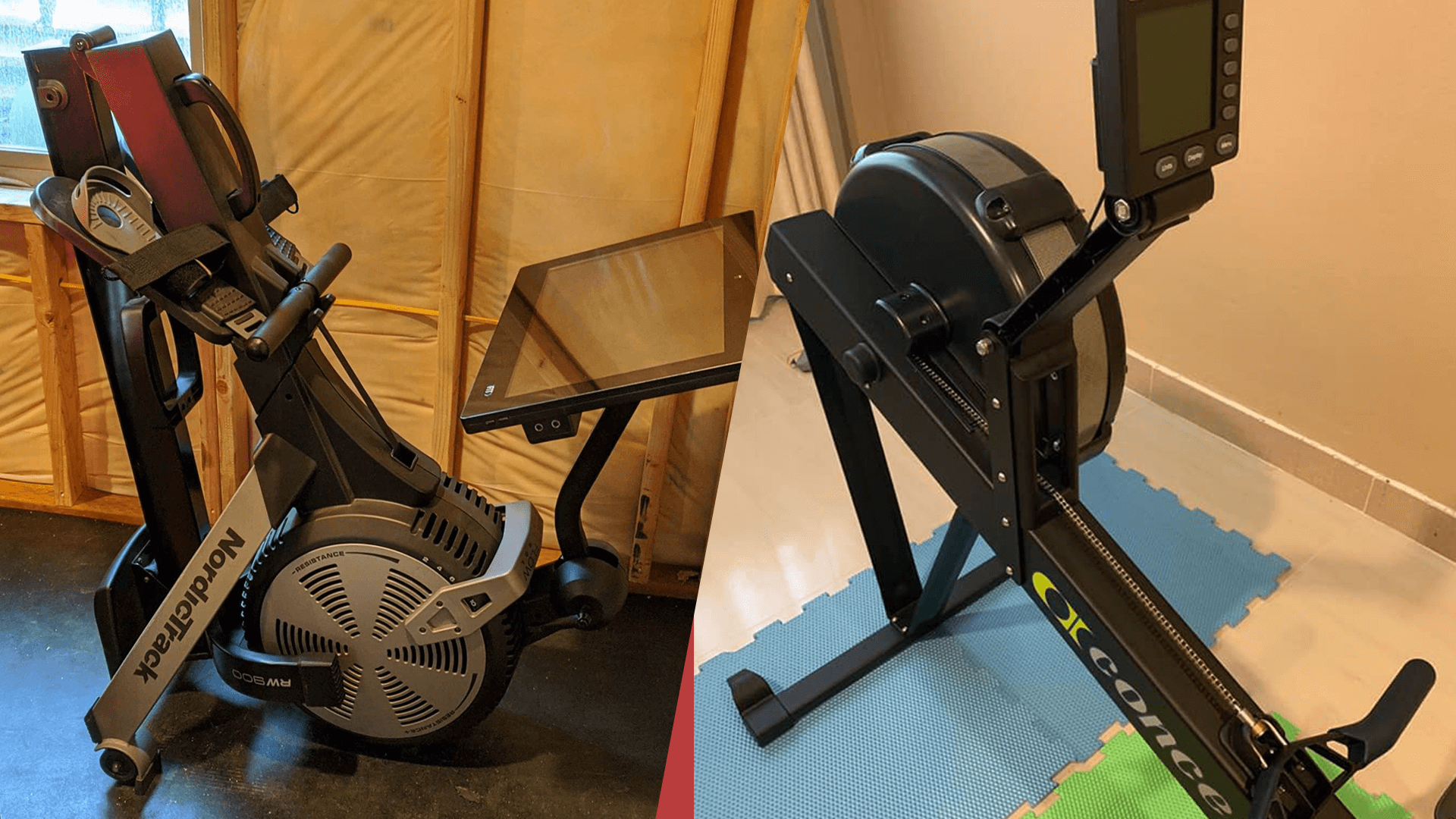 Comparing the size of the NordicTrack RW900 the Concept 2 Model D