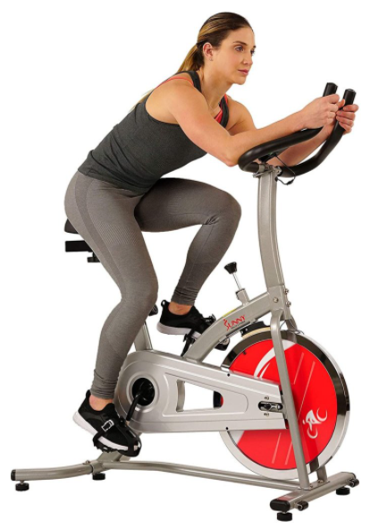 Sunny Health and Fitness Indoor Cycling Bike is our pick for the Best Spin Exercise Bike