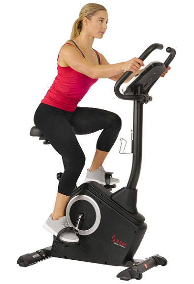 Sunny Health and Fitness Upright Exercise Bike is a great choice for beginners