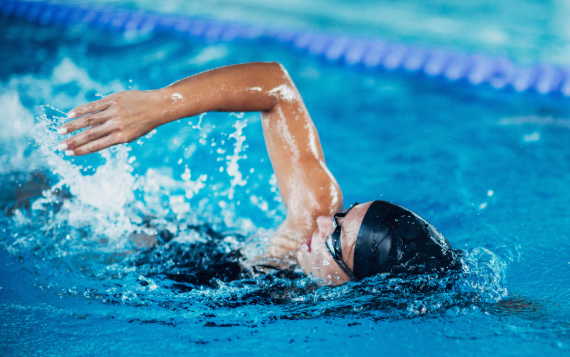 Swimming can help you look taller and correct your posture