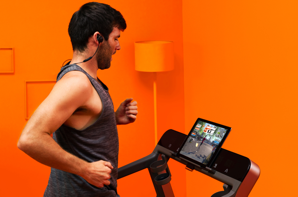 In order to use your treadmill with Zwift, it should be a smart treadmill that can connect with the app, you can still use an old non-smart treadmill with Zwift but you won't get the full experience