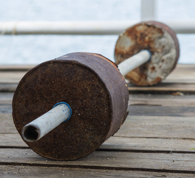 cheap homemade dumbbell weights