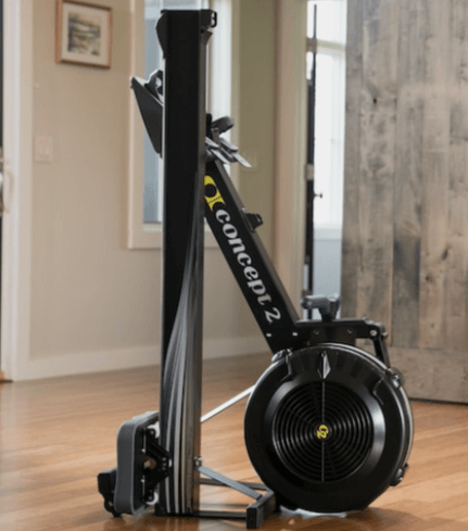 folding system of this total body home workout machine