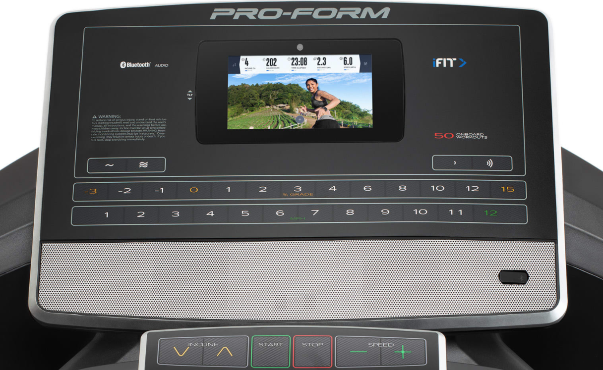 While the screen on the ProForm SMART Pro 2000 Treadmill is small it is very practical and gets the job done