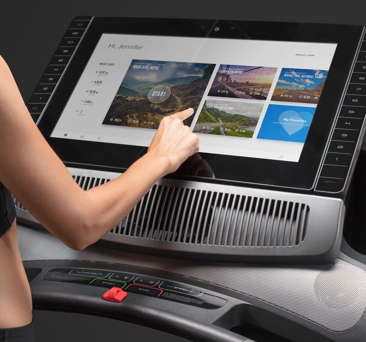The 22-inch screen on the commercial 2950 is one if it's biggest features, it gives people who use the treadmill a big and wide display that allows them to enjoy their workout to the fullest