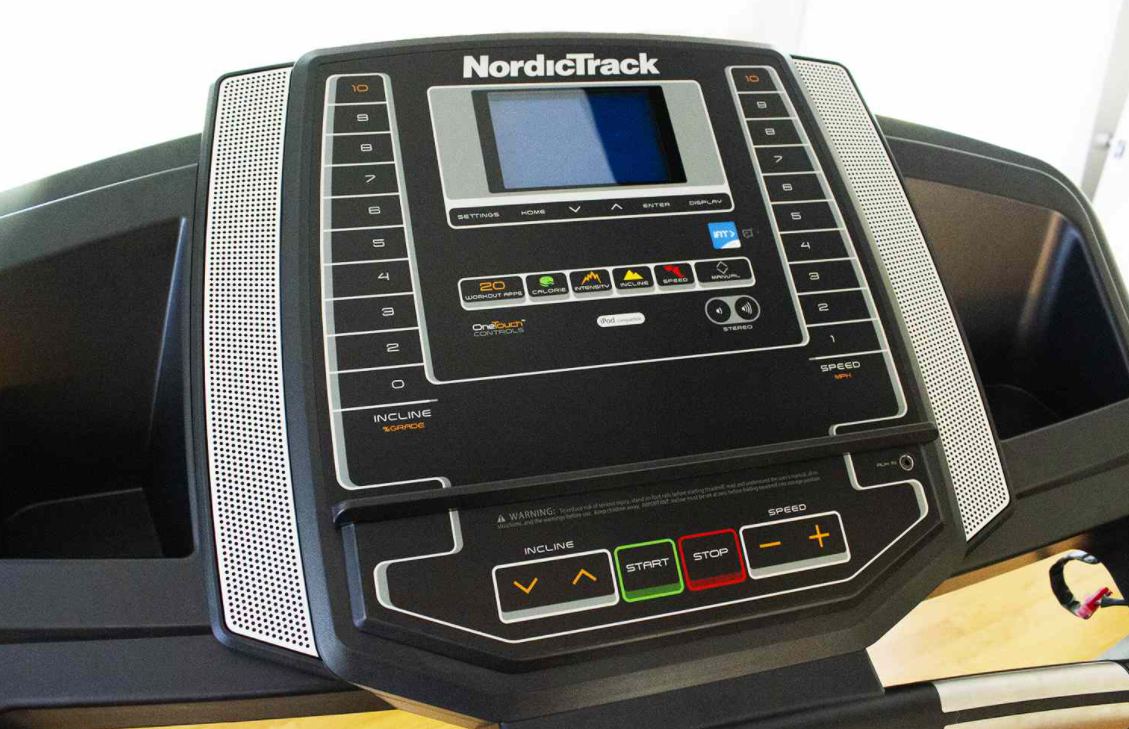 The Screen on the NordicTrack T 6.5 S has all the basics you would need in a treadmill display