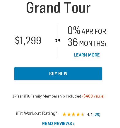NordicTrack Grand Tour Bike Pricing