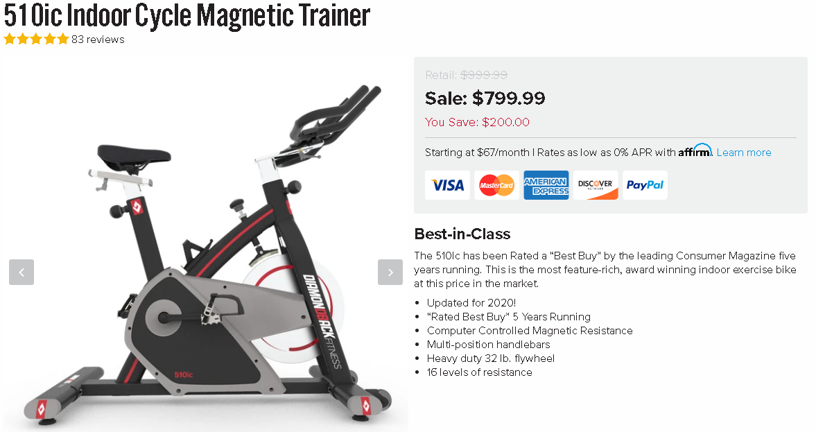The Diamondback 510ic Indoor Cycle Pricing