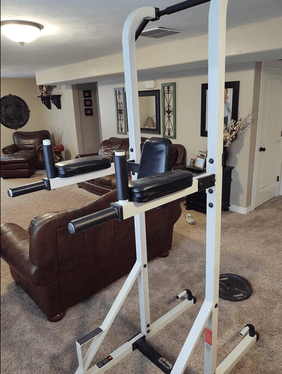 One of the upsides of having a power tower is it's a compact exercise equipment that you can put in smaller spaces