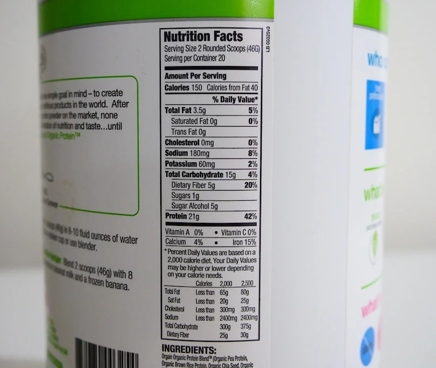 Orgain Nutrition Facts