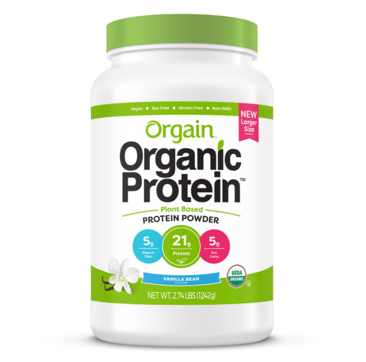 Orgain, Organic Protein is a great choice for people looking for protein shakes that don't include whey