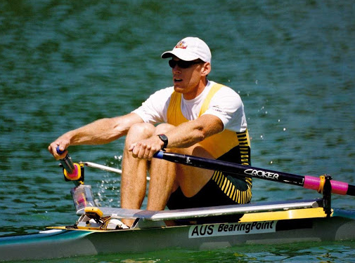 Rows are simply the movement a person does when rowing a boat