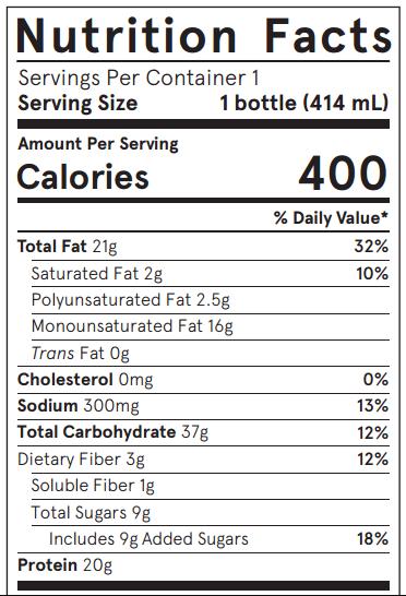 Soylent Nutrition Facts
