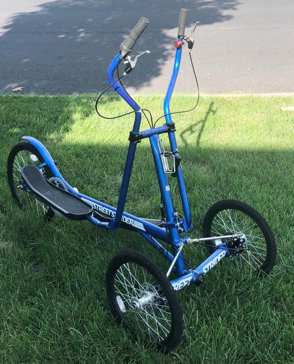 The StreetStrider 7i is the best three wheeled elliptical bike