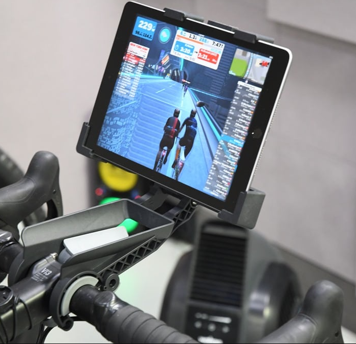 Tablet Bike Mount is essential if you want to connect to apps like Zwift or Peloton live using your tablet while exercising on the bike