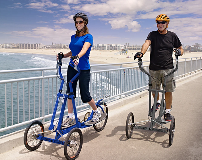 Second type of outdoor Elliptical bikes is a Three Wheels bike
