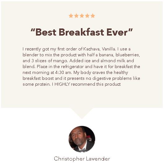 Kachava customer review
