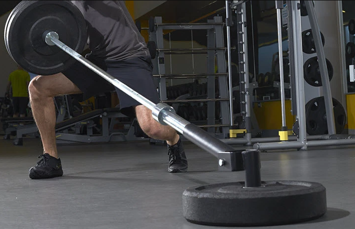 A landmine unit helps a lot with doing T Bar rows