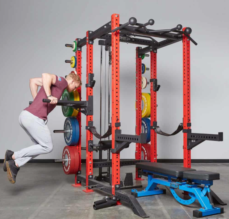 Add ons to your power rack or squat rack allow you to do more workouts and exercise more muscle areas in your body