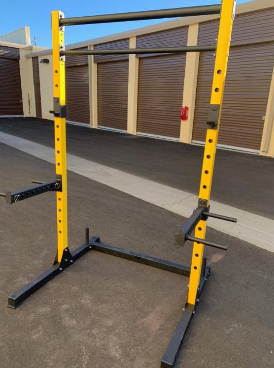 Best all in one squat rack is the HulkFit Multi-Function Adjustable Power Rack