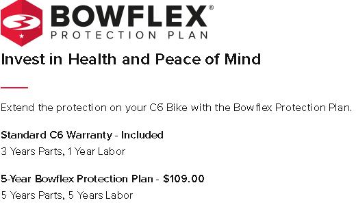 Bowflex C6 Warranty
