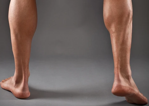 Your calves are a secondary muscle group that is worked by the shrimp squat
