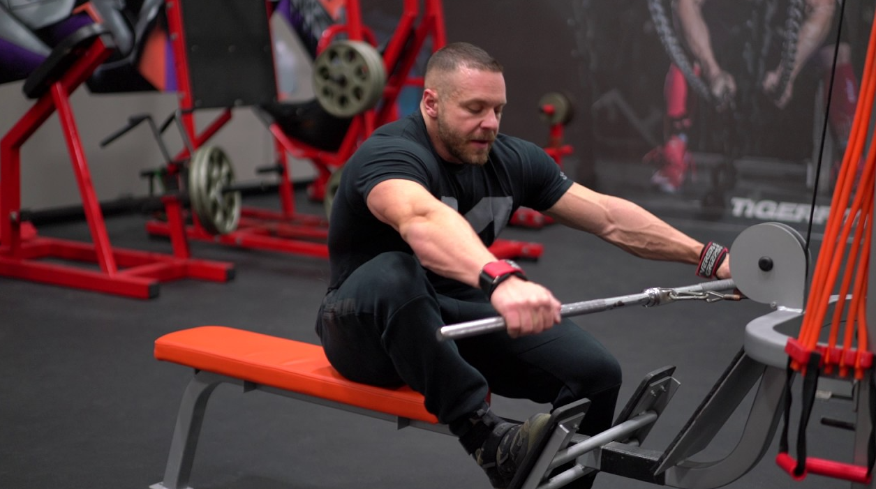 Change Your Grip when doing low rows to get the results you want