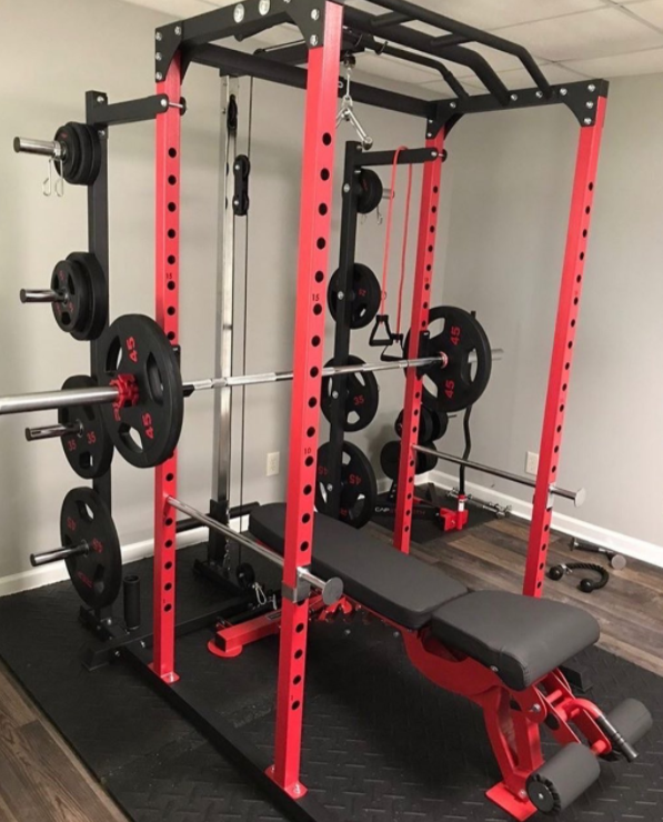 The REP PR-1100 is the cheapest power rack with acceptable quality that you can get on the market