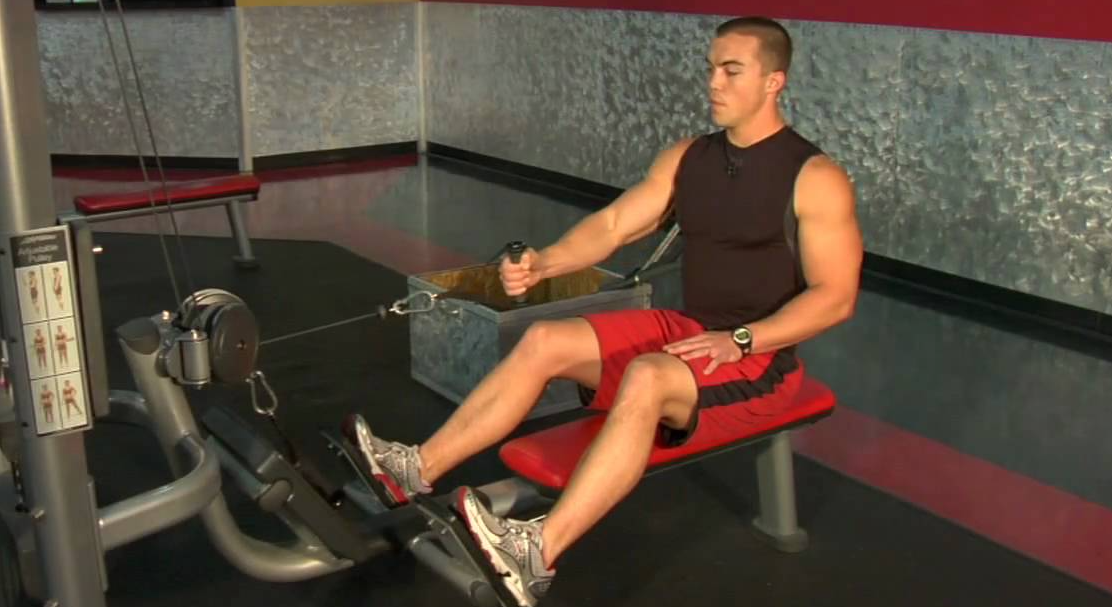 Do a Single-Arm Row as a modification to the low row exercise