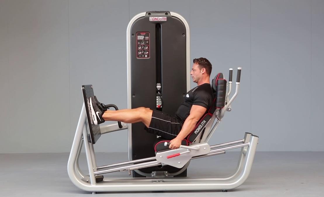 Another type of leg press machines is a horizontal leg press machine
