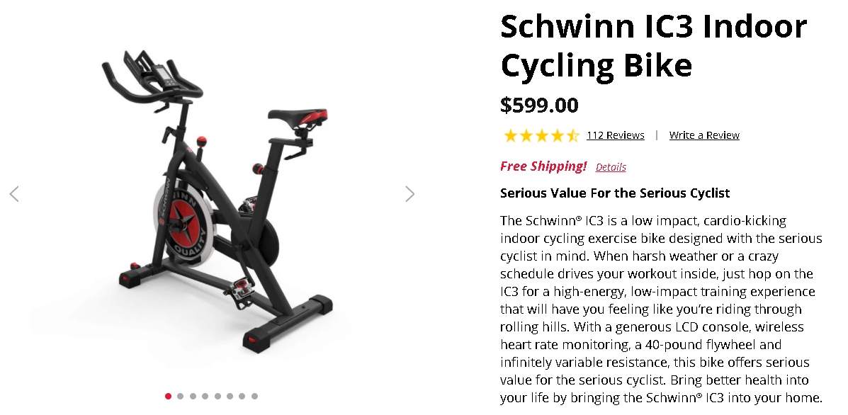 Schwinn IC3 Price