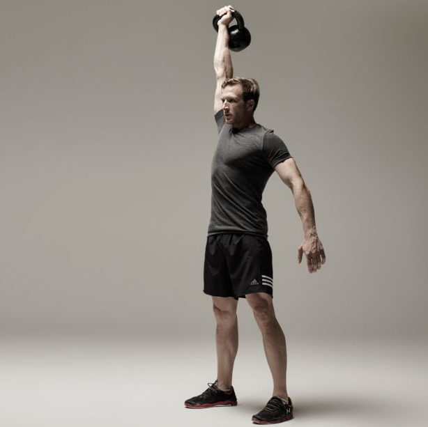 Kettlebell Presses are a great Complimentary exercise to the Australian Pull up exercise