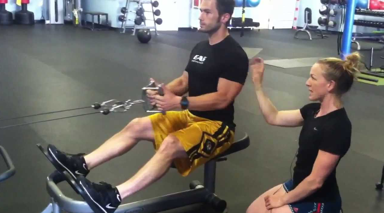 Move the Chest Pad when doing low rows to get more gains