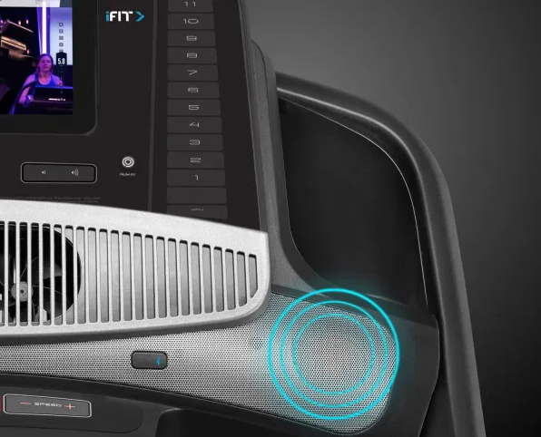 The NordicTrack 1750 comes with Next-Gen Bluetooth Connectivity