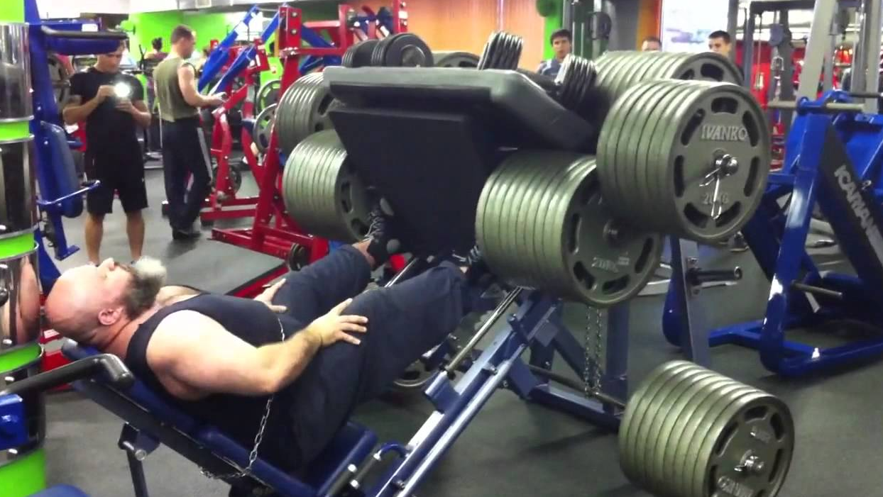 Leg press machines are great as you can scale up the weight on the machine and work your muscles harder