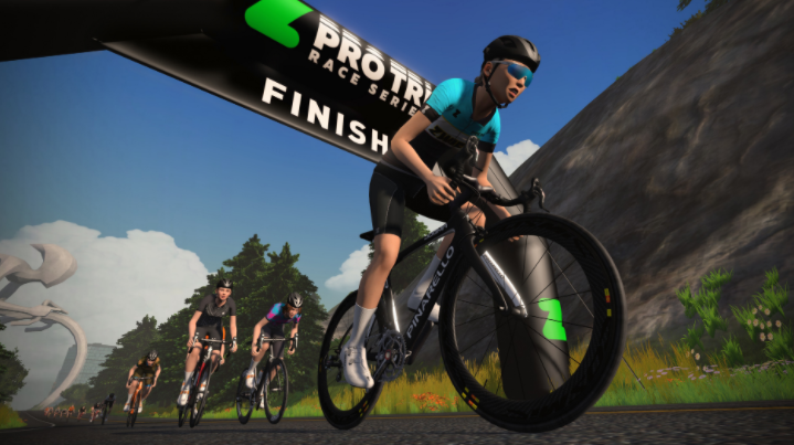 Riding with The Pros is another thing you get when using Zwift