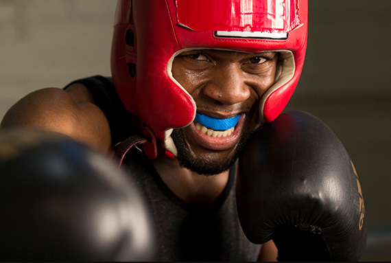 Safety Gear in boxing include, mouth guard, headgear, hand wraps