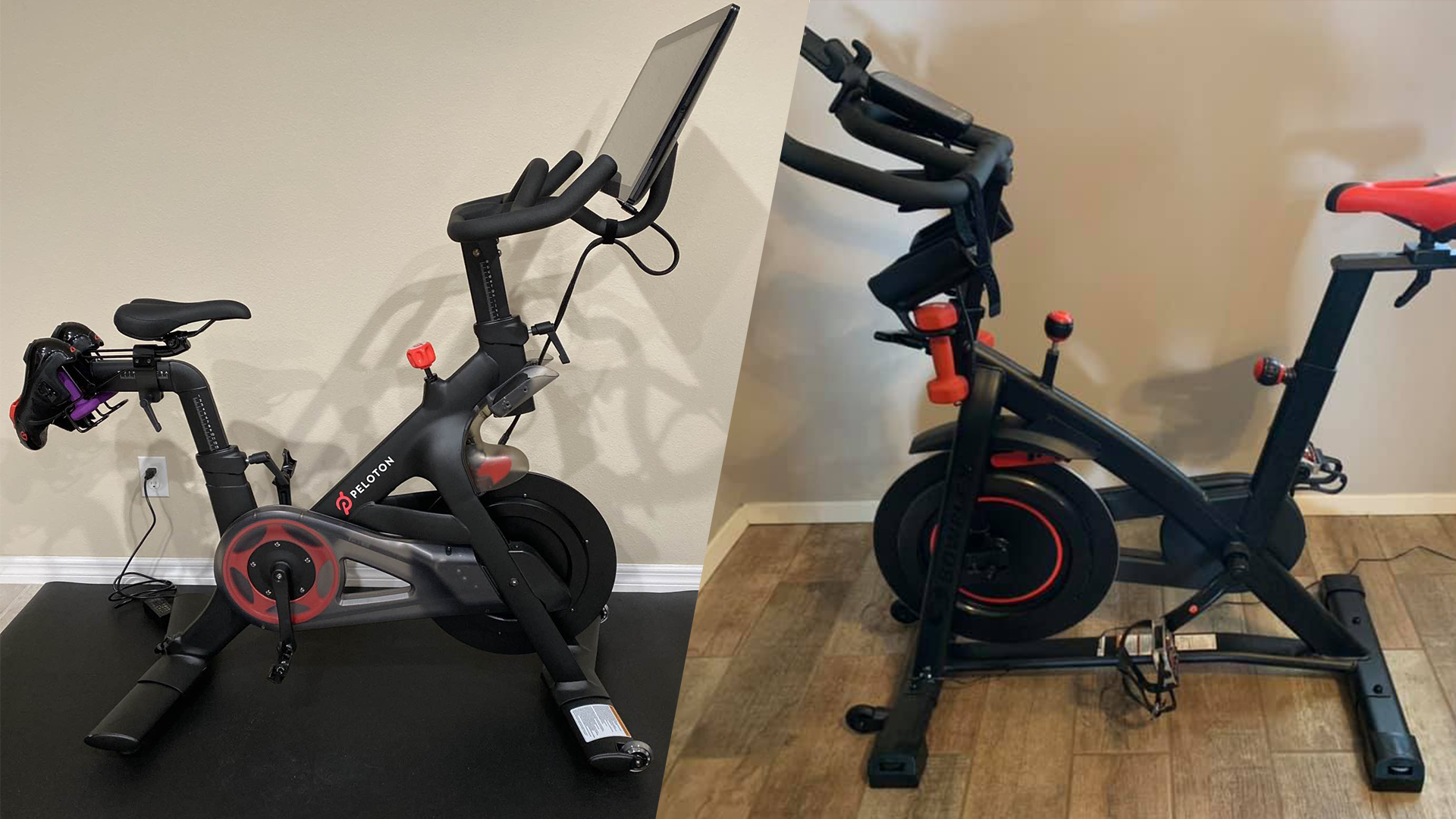 Detailed breakdown and comparison of the Peloton and the Bowflex C6